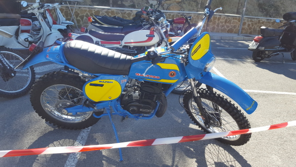 Classic Bultaco at Sella Bikers breakfast,Costa Blanca