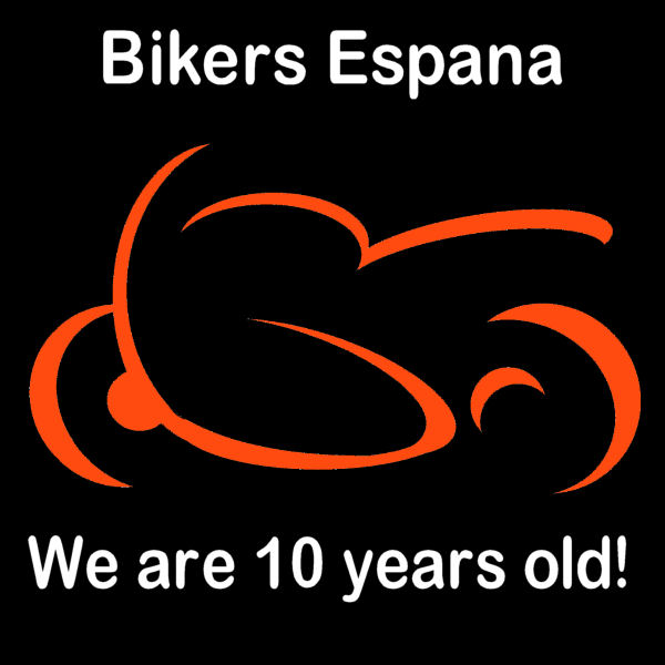 Bikers España 10th Birthday Logo