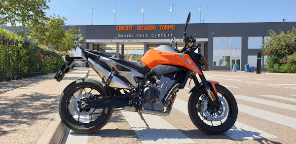KTM 790 Duke at Circuito Ricardo Tormo, Cheste, Valencia, Spain